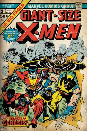 Marvel Comics Retro: The X-Men Comic Book Cover No.1 (aged)--Poster