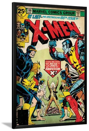 Marvel Comics Retro: The X-Men Comic Book Cover No.100, Professor X (aged)--Lamina Framed Poster