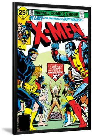 Marvel Comics Retro: The X-Men Comic Book Cover No.100, Professor X