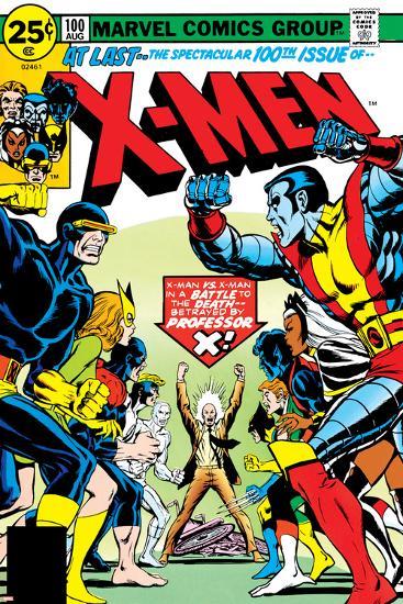 Marvel Comics Retro: The X-Men Comic Book Cover No.100, Professor X--Art Print