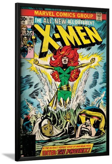 Marvel Comics Retro: The X-Men Comic Book Cover No.101, Phoenix, Storm, Nightcrawler, Cyclops--Lamina Framed Poster