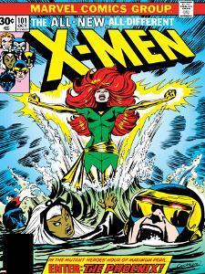 Marvel Comics Retro: The X-Men Comic Book Cover No.101, Phoenix, Storm, Nightcrawler, Cyclops