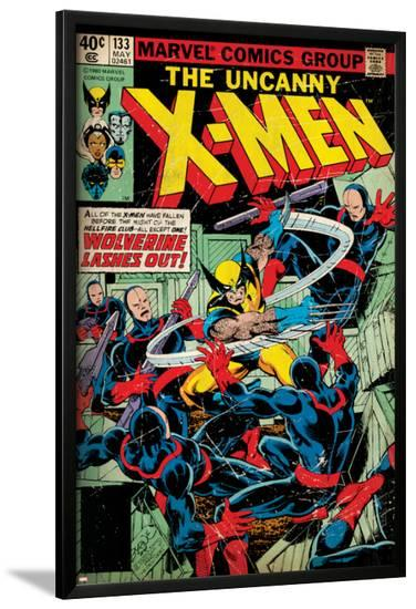 Marvel Comics Retro: The X-Men Comic Book Cover No.133, Wolverine Lashes Out (aged)--Lamina Framed Poster