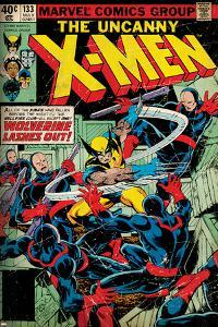 Marvel Comics Retro: The X-Men Comic Book Cover No.133, Wolverine Lashes Out (aged)