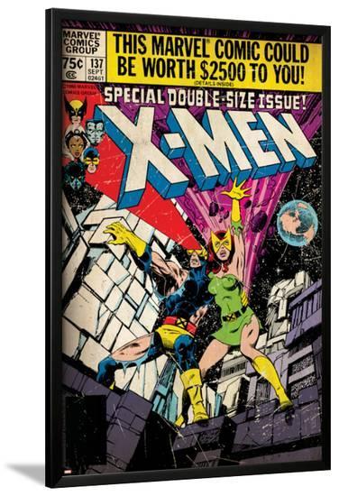 Marvel Comics Retro: The X-Men Comic Book Cover No.137, Phoenix, Colossus (aged)--Lamina Framed Poster