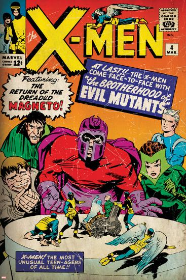 Marvel Comics Retro: The X-Men Comic Book Cover No.4, Scarlet Witch, Quicksilver, Toad(aged)--Art Print