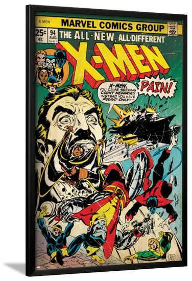 Marvel Comics Retro: The X-Men Comic Book Cover No.94, Colossus, Nightcrawler, Cyclops (aged)--Lamina Framed Poster