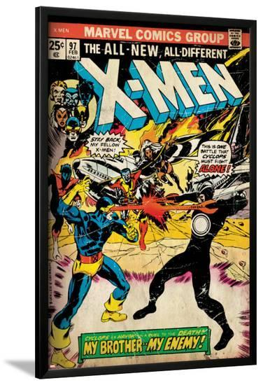 Marvel Comics Retro: The X-Men Comic Book Cover No.97, Havok, My Brother-My Enemy! (aged)--Lamina Framed Poster