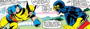 Marvel Comics Retro: X-Men Comic Panel, Wolverine, Cyclops