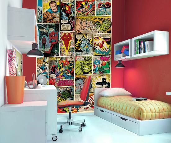 Marvel Comics Wallpaper Mural Wallpaper Mural by   Art.com