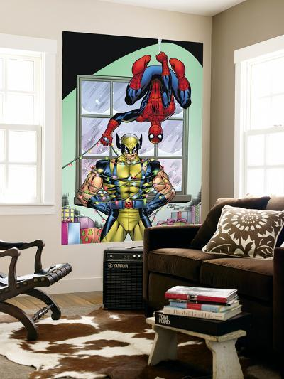 Marvel Holiday Special 2007 No.1 Cover: Spider-Man and Wolverine-Ron Lim-Wall Mural