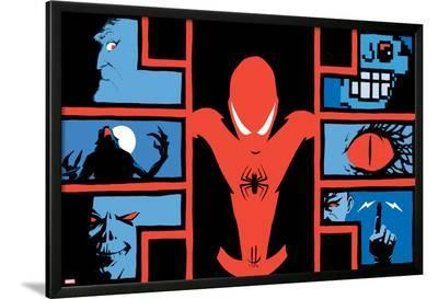 Marvel Knights: Spider-Man #1 Cover: Spider-Man, Morbius, Electro, Arcade, Lizard, Man-Wolf-Marco Rudy-Lamina Framed Poster