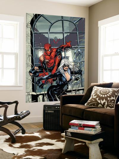 Marvel Knights Spider-Man No.4 Cover: Spider-Man and Black Cat-Terry Dodson-Wall Mural