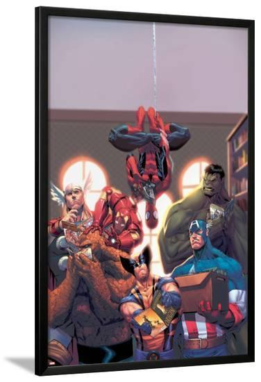 Marvel Reading Chronology 2009 Cover: Spider-Man-Jorge Molina-Lamina Framed Poster