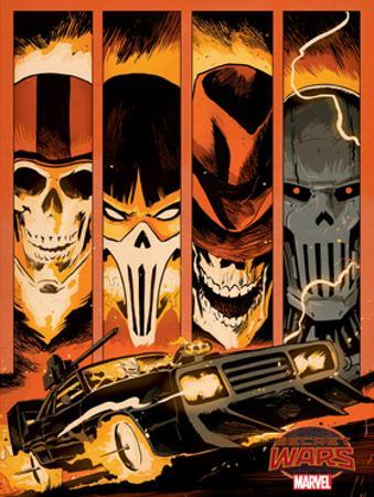 Marvel Secret Wars Cover, Featuring: Ghost Rider
