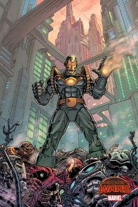 Marvel Secret Wars Cover, Featuring: Iron Man