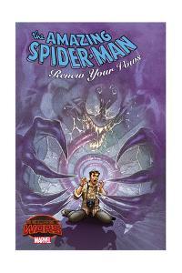 Marvel Secret Wars Cover, Featuring: Venom, Peter Parker