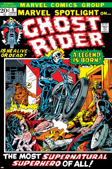 Marvel Spotlight Ghost Rider No.5 Cover: Ghost Rider-Mike Ploog-Art Print