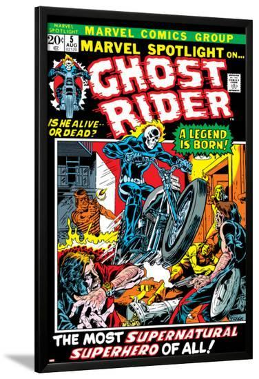 Marvel Spotlight No.5 Cover: Ghost Rider-Mike Ploog-Lamina Framed Poster