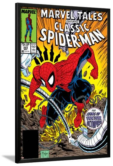 Marvel Tales: Spider-Man No.223 Cover: Spider-Man and Doctor Octopus Fighting-Todd McFarlane-Lamina Framed Poster