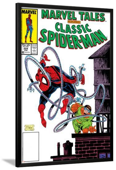 Marvel Tales: Spider-Man No.224 Cover: Spider-Man and Doctor Octopus Charging-Todd McFarlane-Lamina Framed Poster