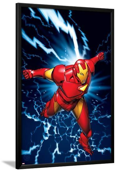 Marvel Two-In-One No.9 Marvel Adventures Iron Man Cover: Iron Man-Michael Golden-Lamina Framed Poster