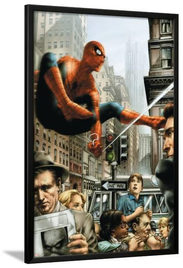 Marvels: Eye Of The Camera No.2 Cover: Spider-Man-Jay Anacleto-Lamina Framed Poster