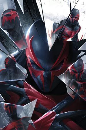 Marvels Spider-Man Panel Featuring Spider-Man 2099