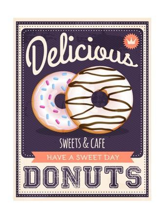 Vector Vintage Styled Donuts Poster by Marvid