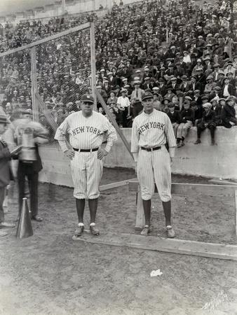 Babe Ruth and Bob Museul, October 18, 1924