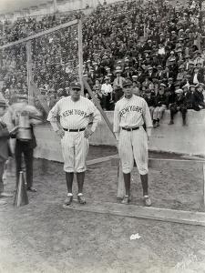 Babe Ruth and Bob Museul, October 18, 1924 by Marvin Boland