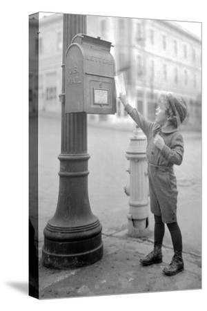 Boy Mailing Letter, Early 1900s