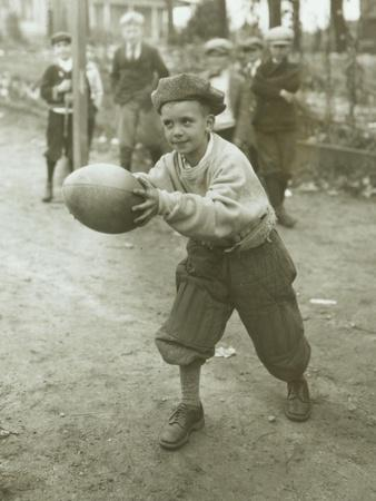 Boy with Football, Early 1900s