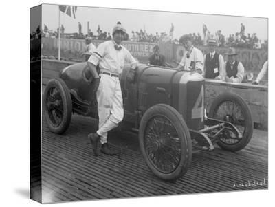 Driver and No.4 Racecar, Tacoma Speedway, Circa 1919