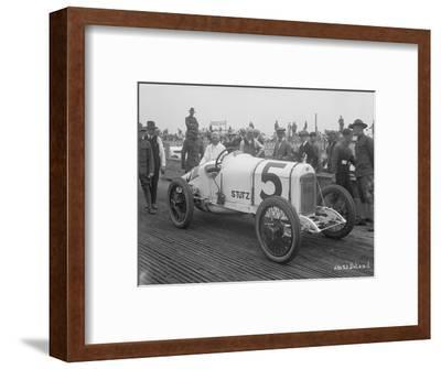 Driver and No.5 Racecar, Tacoma Speedway, Circa 1919
