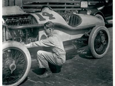 Harry Hartz and No.14 Racecar, 1919