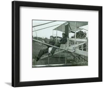 Harvey Crawford in Biplane, 1912