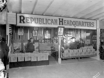 Western Washington Fair, Republican Headquarters Booth, October 6, 1923