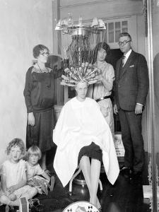 Wired: Woman Gets Permanent Wave, 1926 by Marvin Boland
