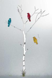 Three in a Tree by Marvin Pelkey