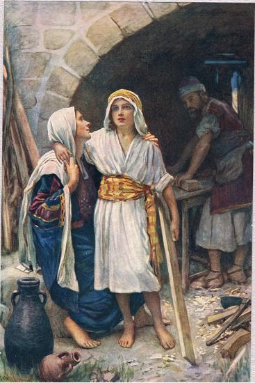 Mary and Jesus, Illustration from 'Women of the Bible', Published by the Religious Tract Society,…-Harold Copping-Giclee Print