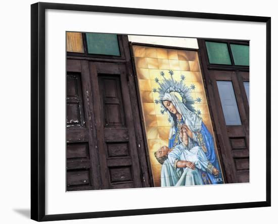 Mary and Jesus Religious Mural Next to Catedral De San Juan (San Juan Cathedral)-Rachel Lewis-Framed Photographic Print