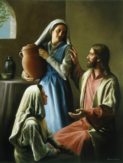Mary and Martha-David Lindsley-Premium Giclee Print