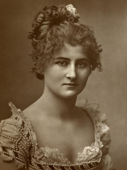 Mary Anderson, American Actress, 1884--Photographic Print