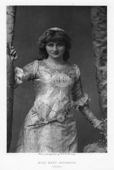 Mary Anderson, American Actress, C1895-W&d Downey-Giclee Print