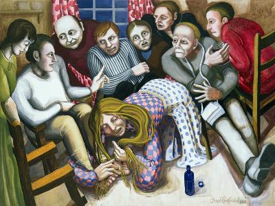 Mary Anointing Jesus' Feet, 1998-Dinah Roe Kendall-Giclee Print