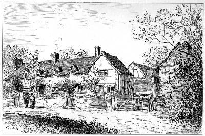 Mary Arden's Cottage at Wilmcote, Warwickshire, 1885-Edward Hull-Giclee Print