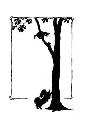 Koko the Dog Frightens a Kitten into a Tree by Mary Baker