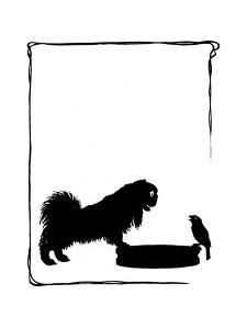 Koko the Pekinese Dog with Jack Sparrow by Mary Baker