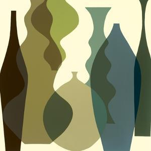 Floating Vases III by Mary Calkins